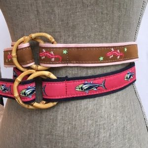 3/$25 Pair of Belts with Bamboo Buckles.